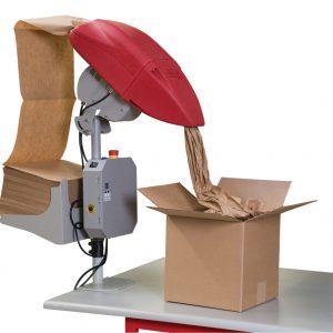 Sistema riempimento dei vuoto con carta. Ideale per imballaggi
